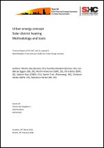 Urban energy concept Solar district heating Methodology and tools