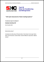 D3: Life Cycle Assessment of Solar Cooling Systems